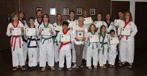 Lomita City Hall awards ceremony